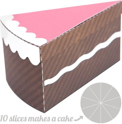 cake slice boxes template 500px