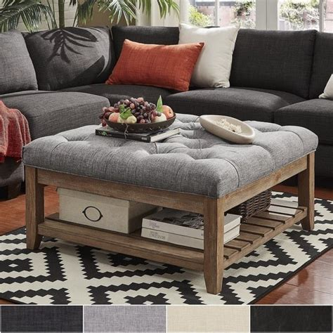 ottoman instead of coffee table 25 best ideas about ottoman coffee tables on