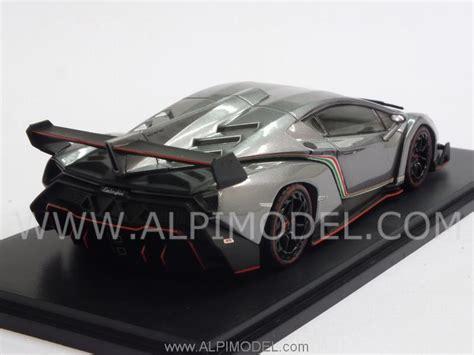 Kyosho Diecast Lamborghini Veneno 1 43 Scale Grey 1 kyosho lamborghini veneno 2013 gun grey 1 43 scale model