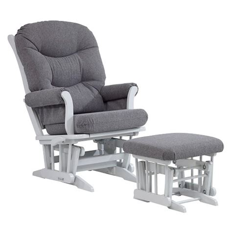 dutailier glider with ottoman dutailier sleigh glider with ottoman white chocolate