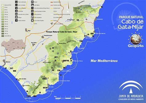 mapa parque cabo de gata parque cabo de gata n 237 jar almer 237 a mapa