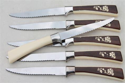 vintage sheffield steel carving knives steak knives set