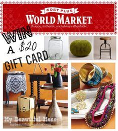World Market Gift Card - my beautiful mess projects on pinterest welcome mats galvanized pipe and ruffle duvet