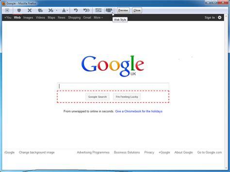 design google page in html print edit add ons f 252 r firefox