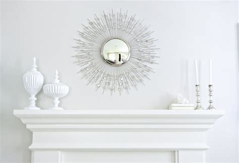 Silver Sunburst Mirror   Transitional   living room