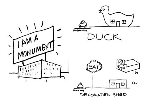 Robert Venturi Duck Decorated Shed by Rem Koolhaas S G Hq Is Like Two Brands