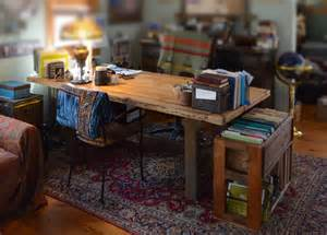 Custom Made Office Desks Made Rustic Wood Office Desk And File Storage By Abodeacious Custommade