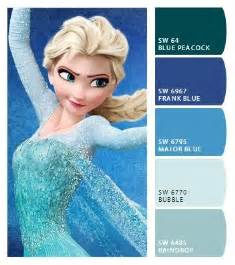 frozen colors frozen elsa color palette frozen