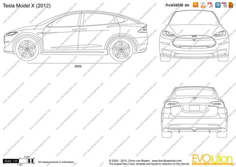 Tesla Model X Sketches by The Blueprints Vector Drawing Tesla Model X