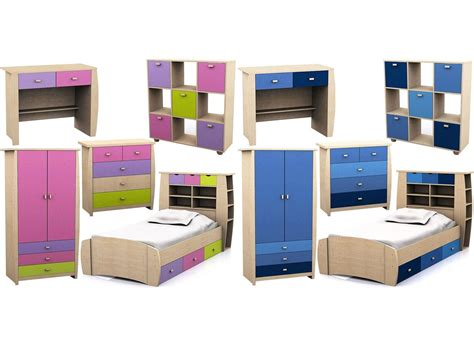 Desk Wardrobe Units by Sydney Childrens Bedroom Range Pink Or Blue Storage