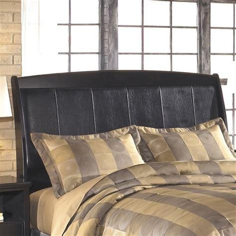 Ashley Harmony Upholstered King Sleigh Headboard In Dark Black Brown Headboard