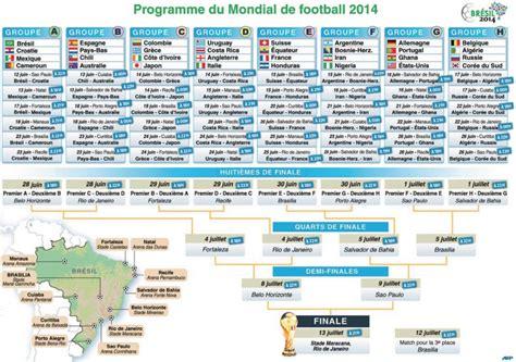 calendrier complet de la coupe du monde du 12 juin au 13