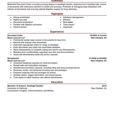 Coder Resume by Coding Resume Sles Fred Resumes