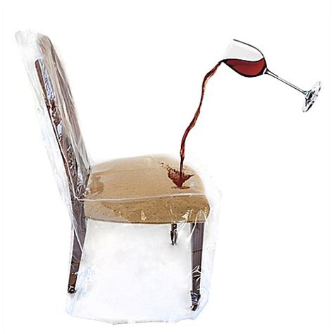 Clear Dining Chair Covers Clear Dining Room Chair Cover Bed Bath Beyond