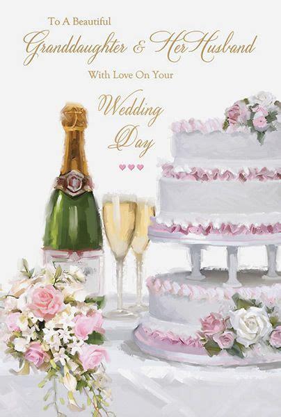Wedding Card For Husband by Granddaughter Husband Wedding Day Card
