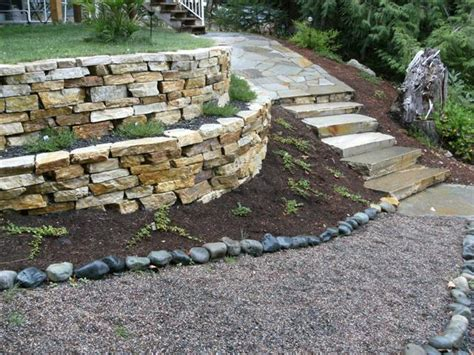 creating a drystack wall or planter