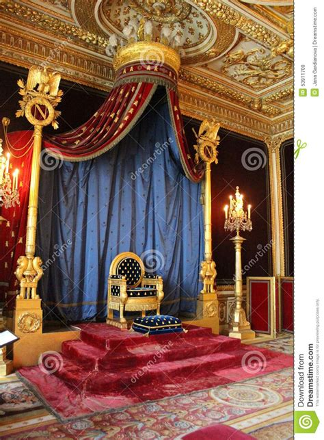 Napoleon Room by Throne Of Napoleon Fontainebleau Editorial Image