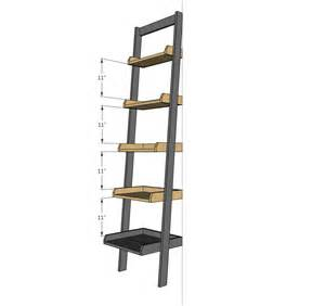 leaning ladder bookcase ana white leaning ladder wall bookshelf diy projects
