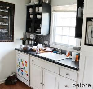 small kitchen makeover before and after before after tiny kitchen makeover design sponge