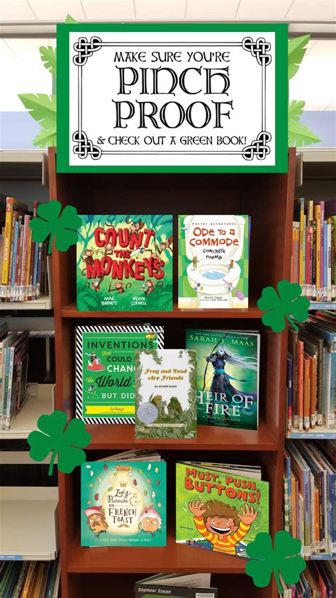 picture book display literary hoots st s day library book display