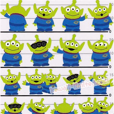 japan disney sticker toy story  green men kawaii limited