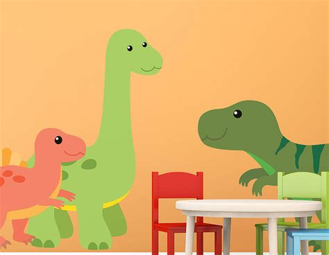 childrens wall stickers children s dinosaur wall sticker set contemporary wall