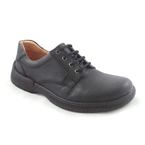 softwalk mens black leather lace up casual shoe softwalk