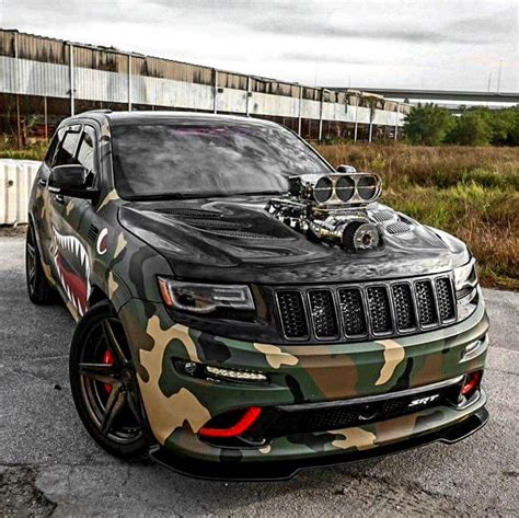 camo jeep cherokee custom blown camo srt jeep grand cherokee jeeps new