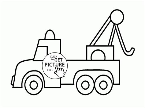 truck coloring page for preschoolers tow trucks coloring pages coloring home