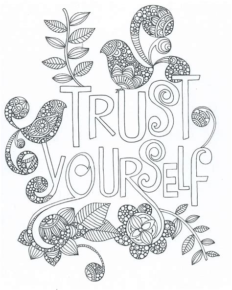 zentangle coloring book zentangle trust yourself words coloring sheets