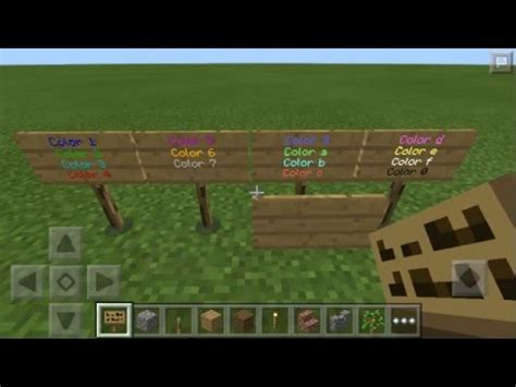 minecraft colored text minecraft pe colored text no mods