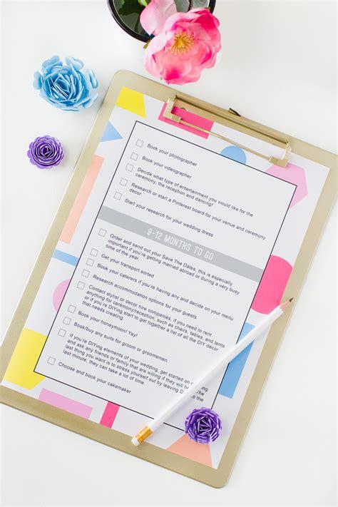 wedding checklist  printable  ultimate list