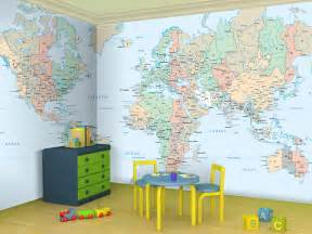 Room Mapping Gallery For Gt World Map Wallpaper Kids Room