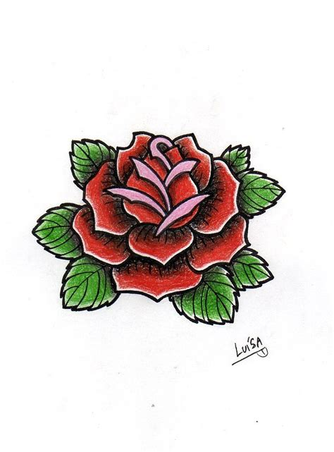 rose old school tattoo 70 traditional school flower tattoos golfian
