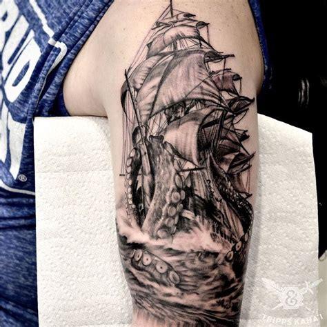 kraken tattoo sleeve pin by phil castonguay on kraken