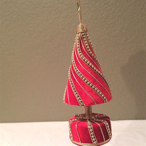 beautiful red gold velvet decorated christmas tree on