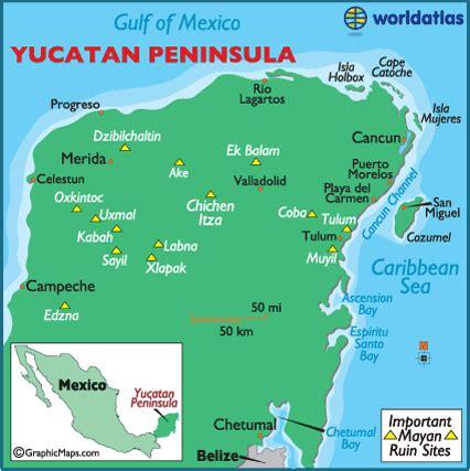 yucatan peninsula map geogiams2 key elements