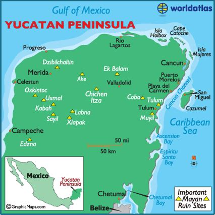 map of mexico yucatan peninsula geogiams2 key elements