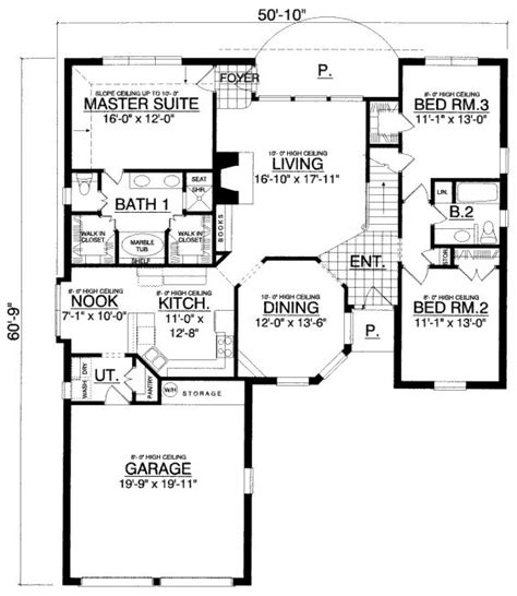 house plans under 1800 square feet 1800 square feet 3 bedrooms 2 batrooms 2 parking space