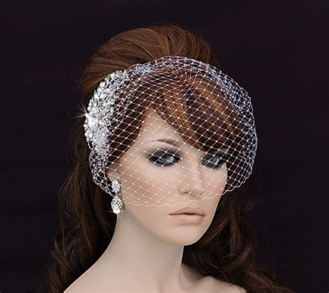 Wedding Hair Cage Veil by Bird Cage Veil Blusher Birdcage Veil And Comb By