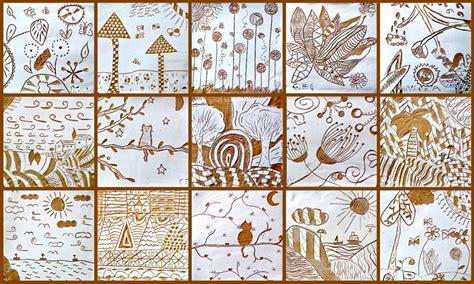sgraffito tiles terracotta clay  white slip