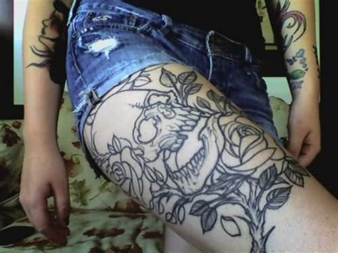 leg tattoos tumblr flowers tattoos on thigh