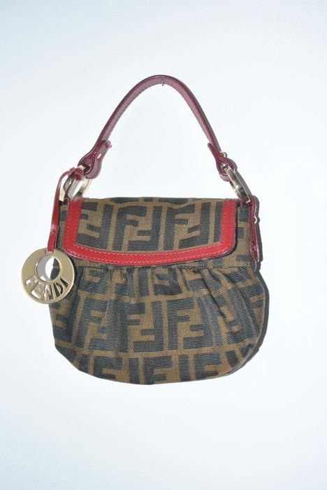 fendi canvas monogram evening bag catawiki