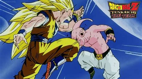 imagenes de goku vs kid buu goku ssj3 vs kid buu dragon ball z tenkaichi tag team