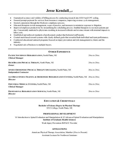 Animal Assisted Therapist Sle Resume by Physical Therapists Resume Sales Therapist Lewesmr