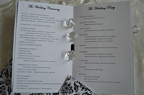mass readings for wedding catholic inspired i dos damask wedding programs for catholic