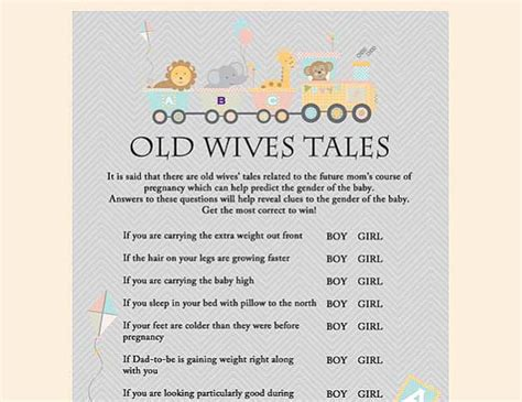 old wives tales determining the gender of your baby old wives tales baby gender game baby by magicalprintable