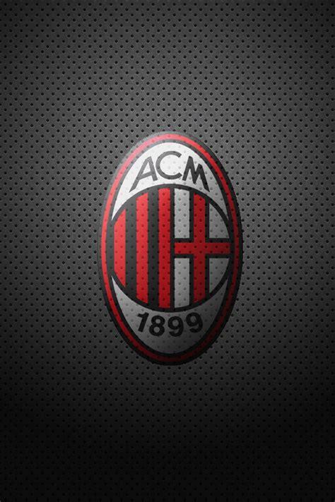 Casing Iphone 6 6 Plus Ac Milan Logo X4283 ac milan logo black and grey background wallpaper for
