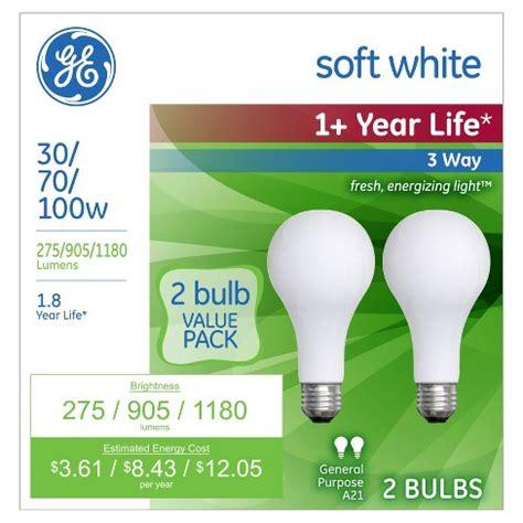100 watt ge white incandescent light bulbs ge 30 70 100 watt 3 way incandescent light bulb