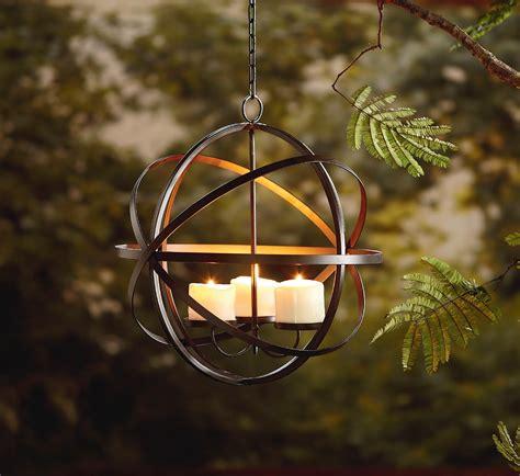 garden oasis candle sphere chandelier outdoor living